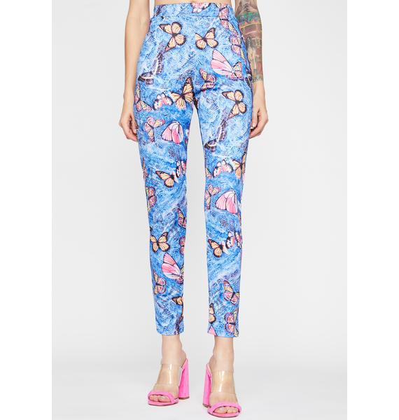 Aqua Mystic Nature Butterfly Pants