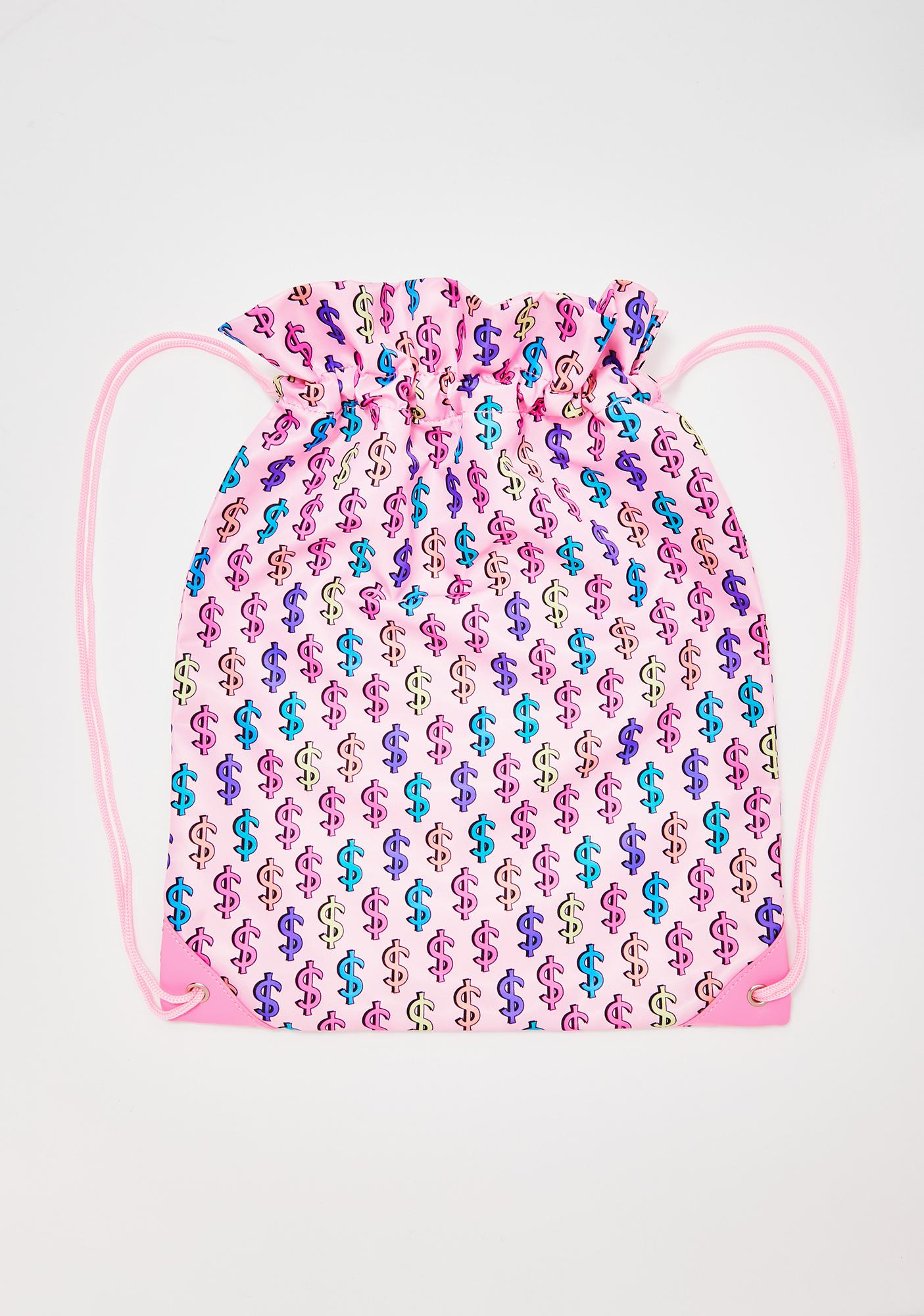 Sugar Thrillz Made Of Money Drawstring Bag