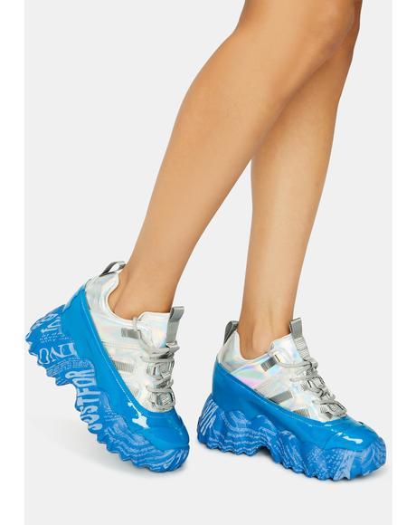 Blue Blackberry Sneakers