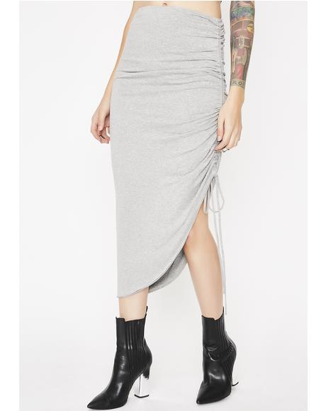 Slay Bae Ruched Skirt