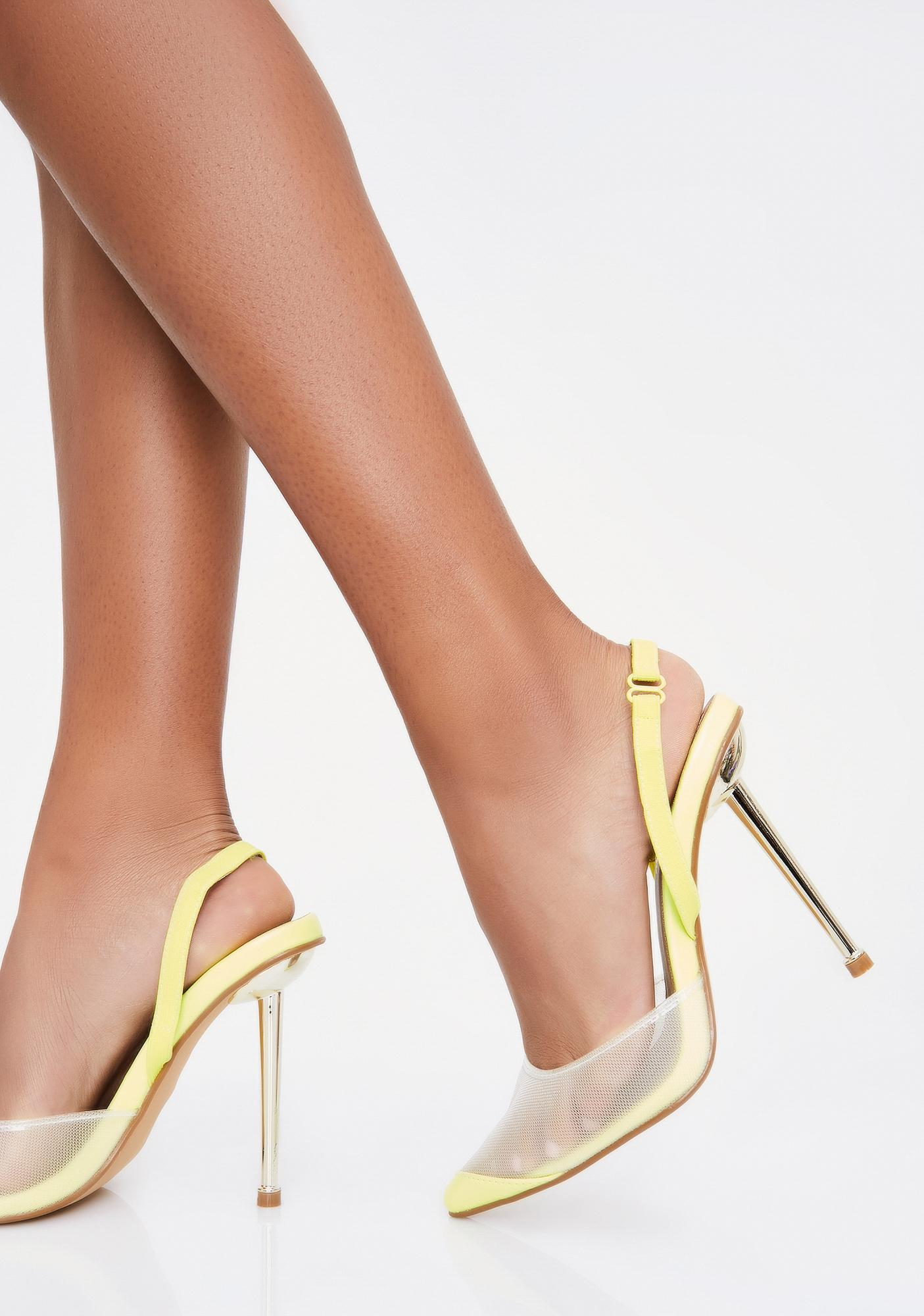 Kryptonite Call My Bestie Clear Heels