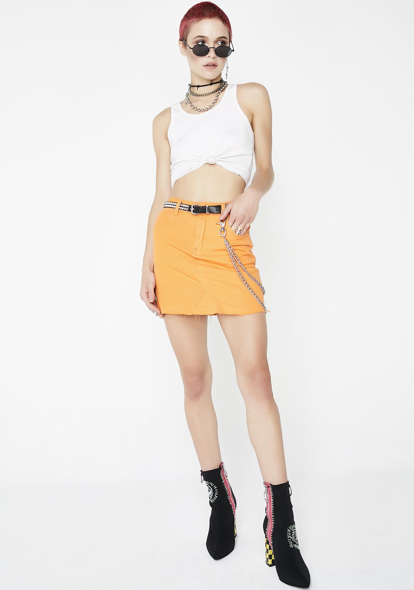 Toxic Hazard Mini Skirt