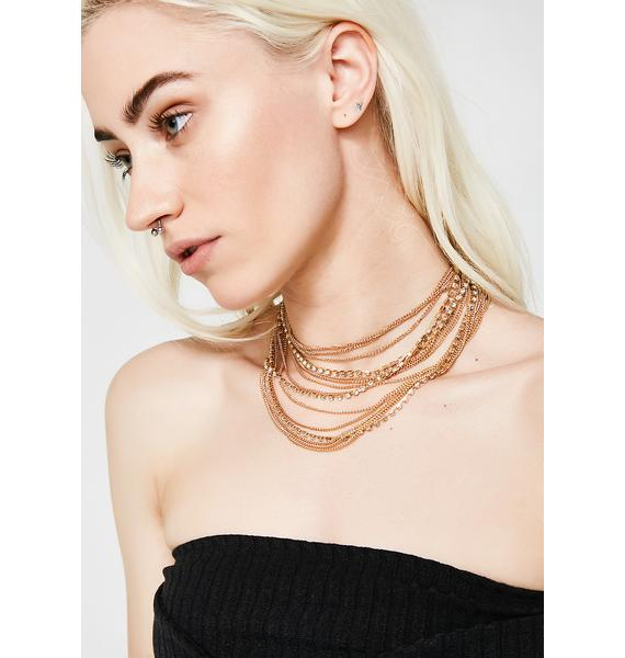 High Sass Layered Gold Necklace