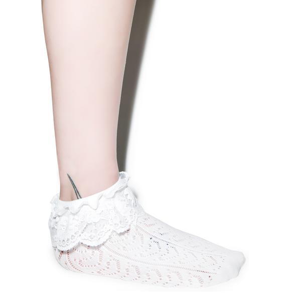 Lovelace Ruffle Ankle Socks