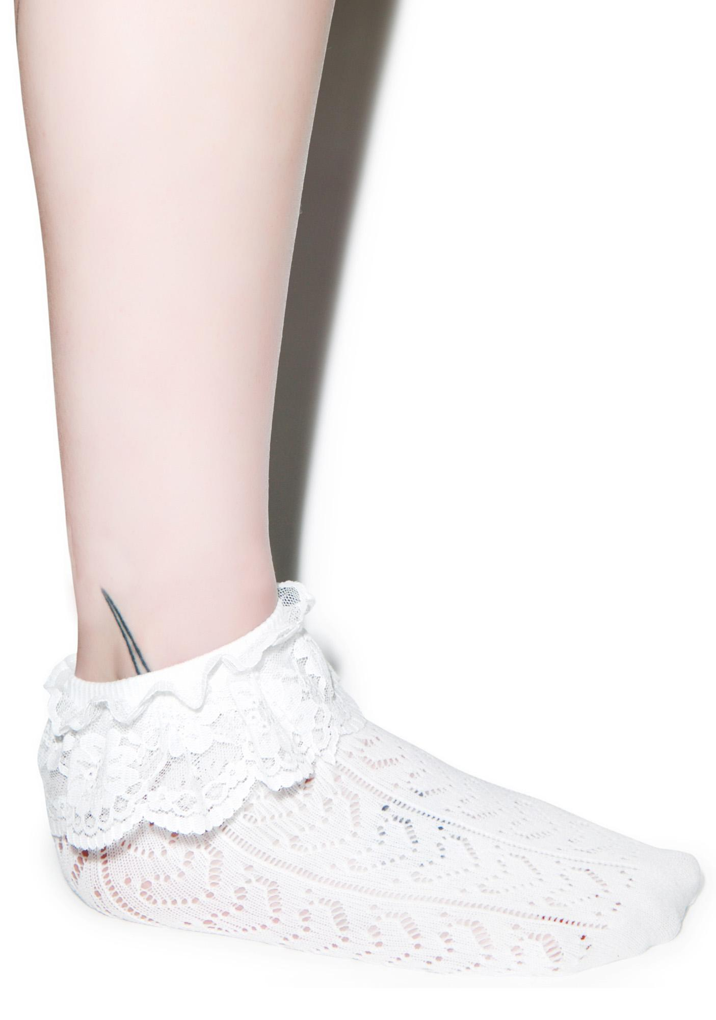 Lovelace Ruffle Ankle Socks
