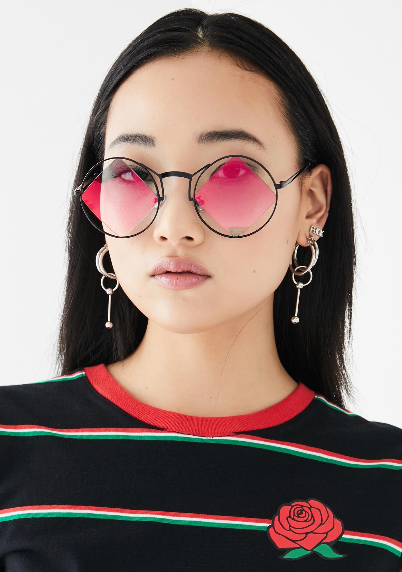 Cyber Iconic Relics Circle Sunglasses
