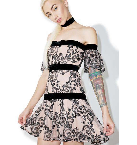 For Love & Lemons Clemence Off Shoulder Dress