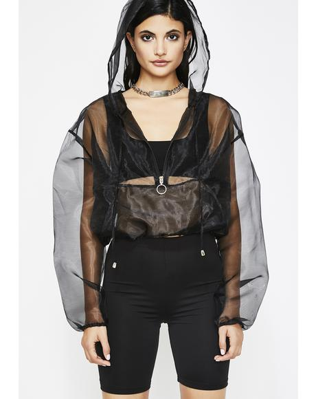 Step Back Sheer Jacket
