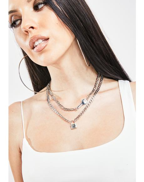 Break The Lock Chain Necklace Set