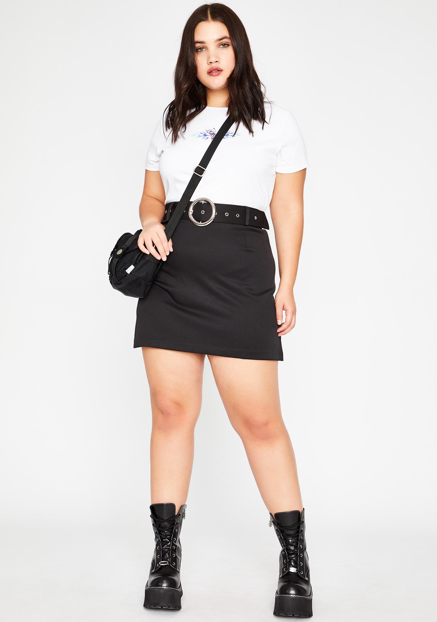 dELiA*s by Dolls Kill Out Past Curfew Mini Skirt