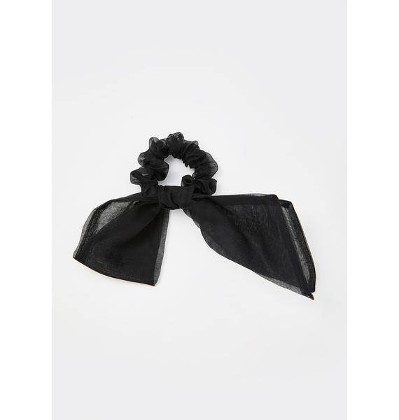 Noir Can I Call You Bow Scrunchie