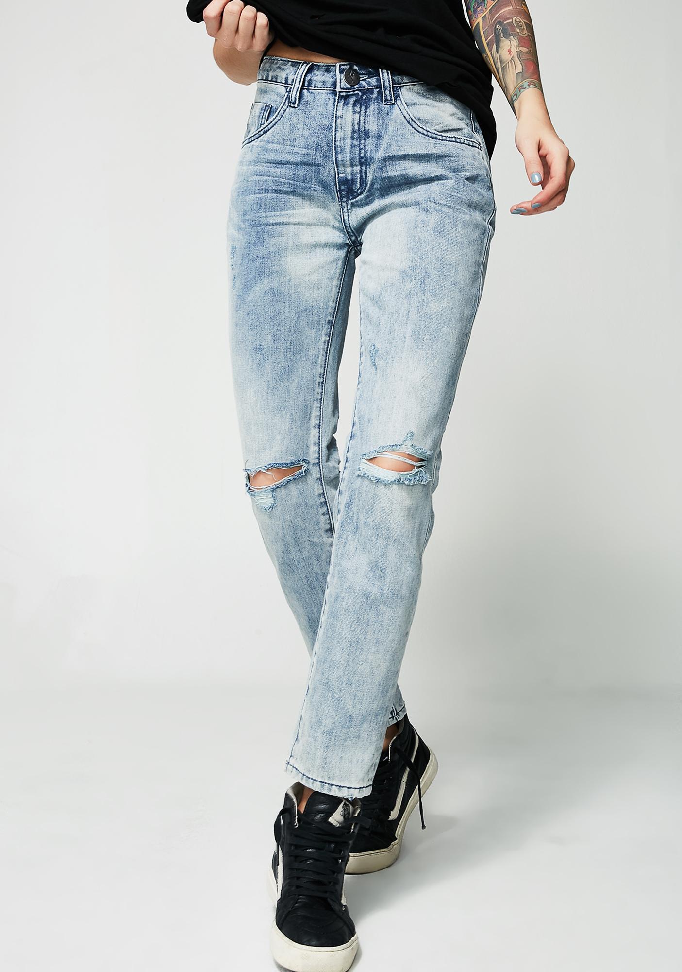One Teaspoon Awesome Baggies High Waist Jeans