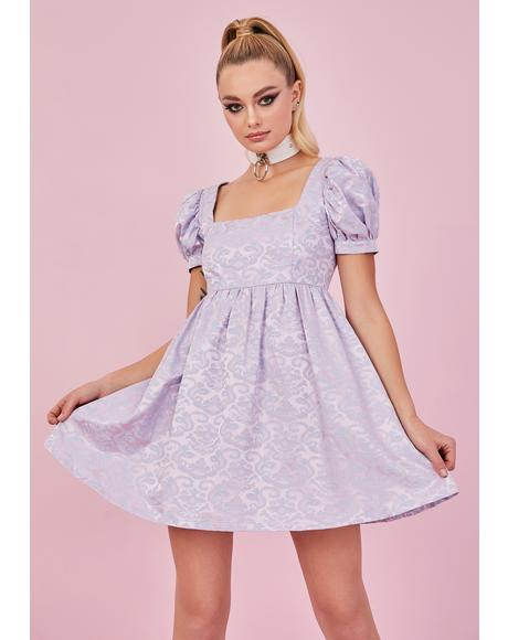 Lilac Elegant Obsession Babydoll Dress