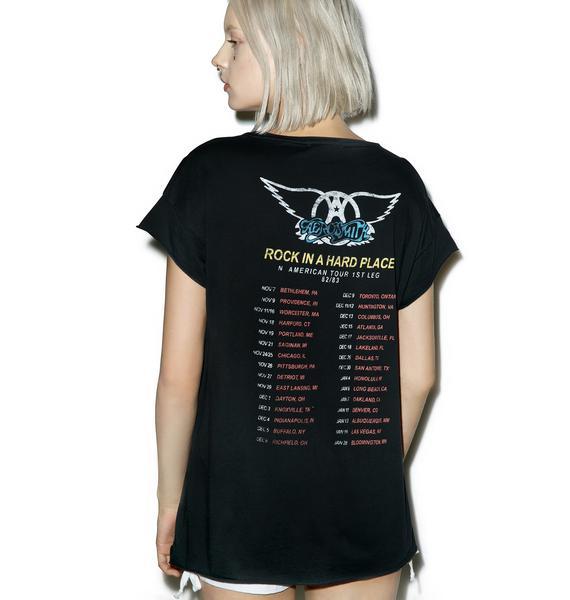 Junk Food Clothing Aerosmith Live Concert Tee