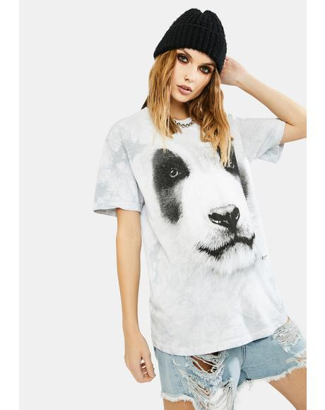 Big Face Panda Graphic Tee