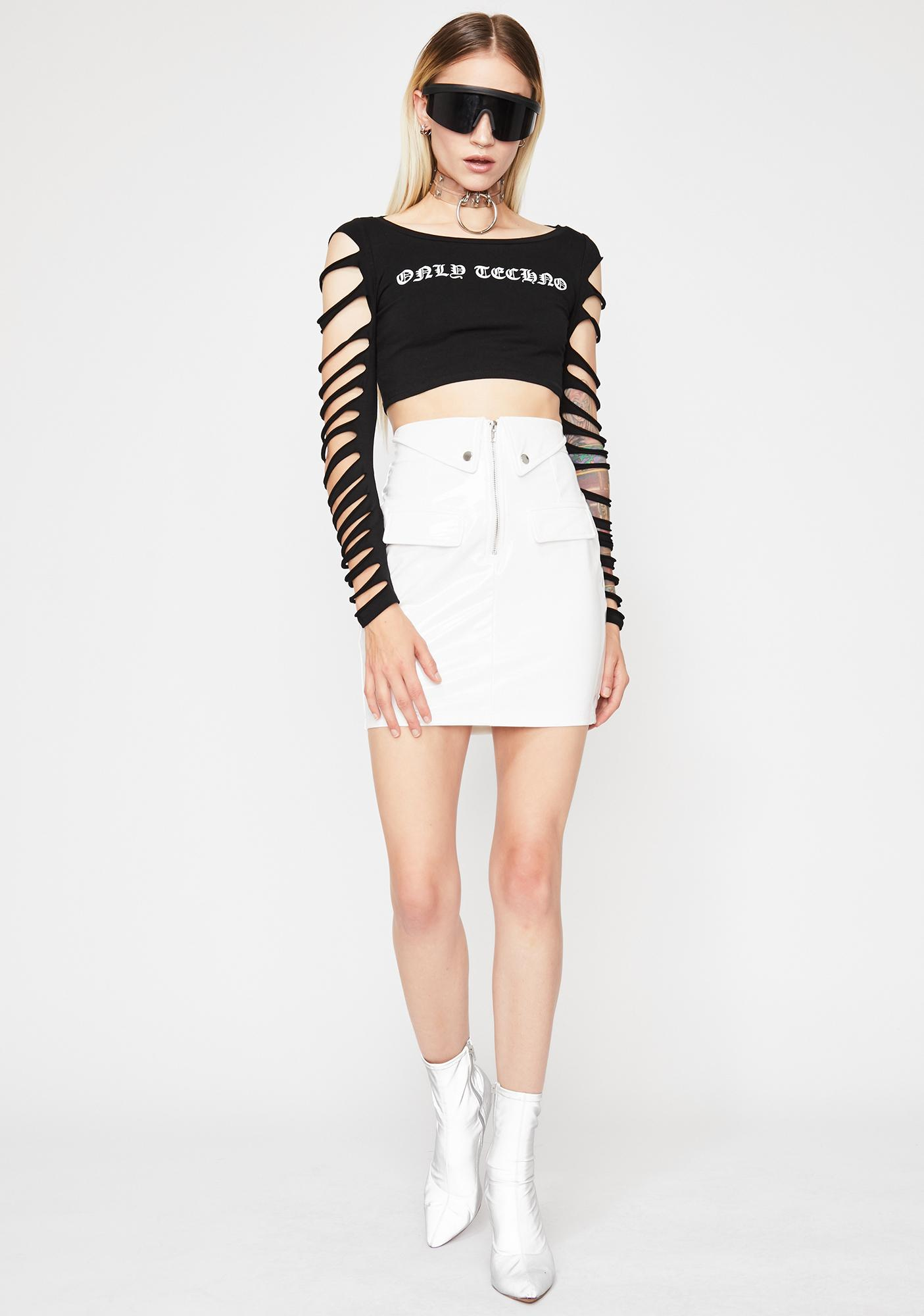 Icy Doll Dilemma Vinyl Skirt