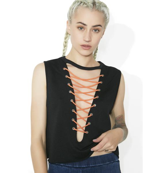 Trouble Makin' Missy Lace-Up Tank