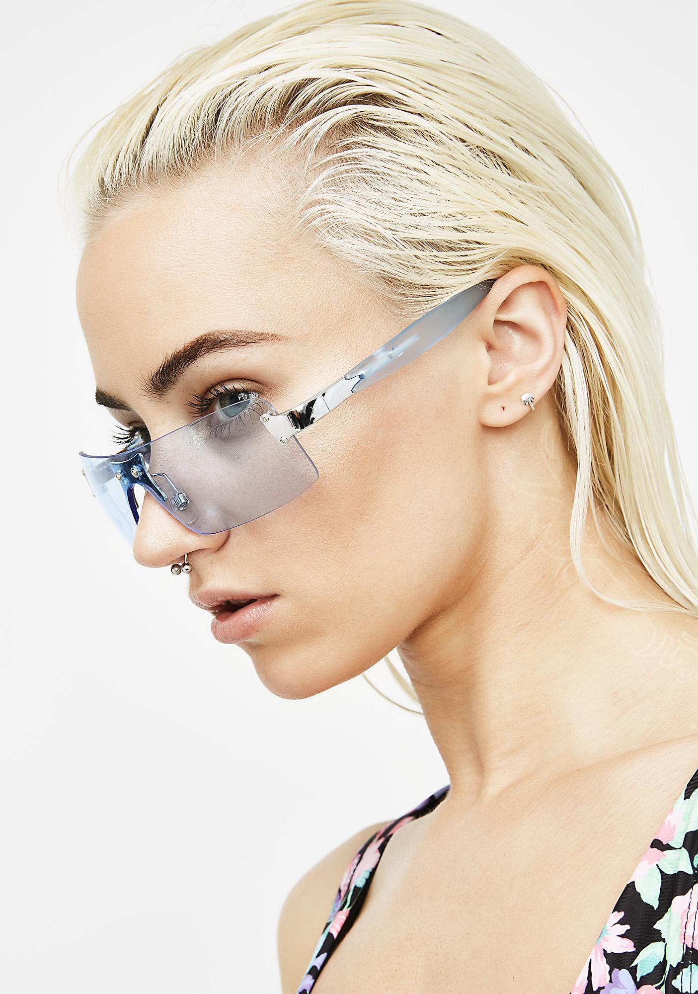 Fixate On Me Rectangle Sunglasses