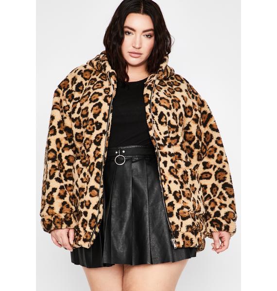 Current Mood My Wild Side Faux Fur Jacket