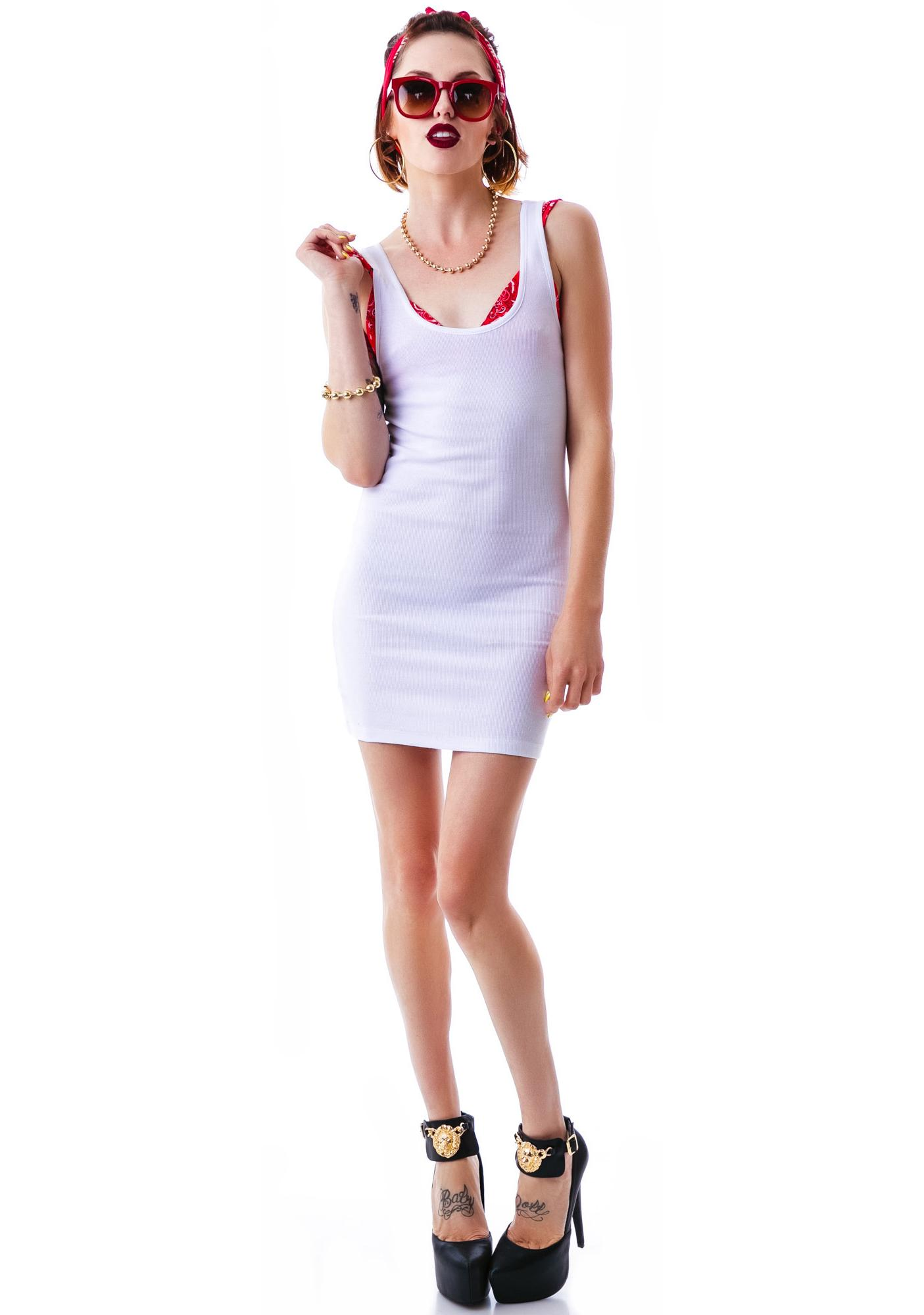 Boy Beater Ribbed Tank Dress