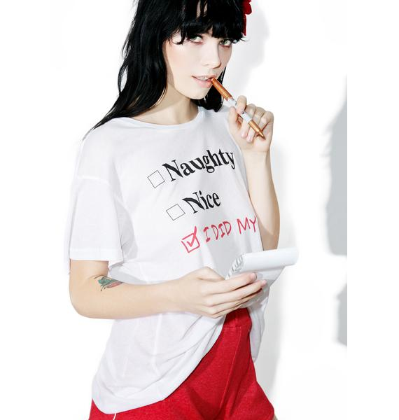 Wildfox Couture Naughty Or Nice Manchester Tee