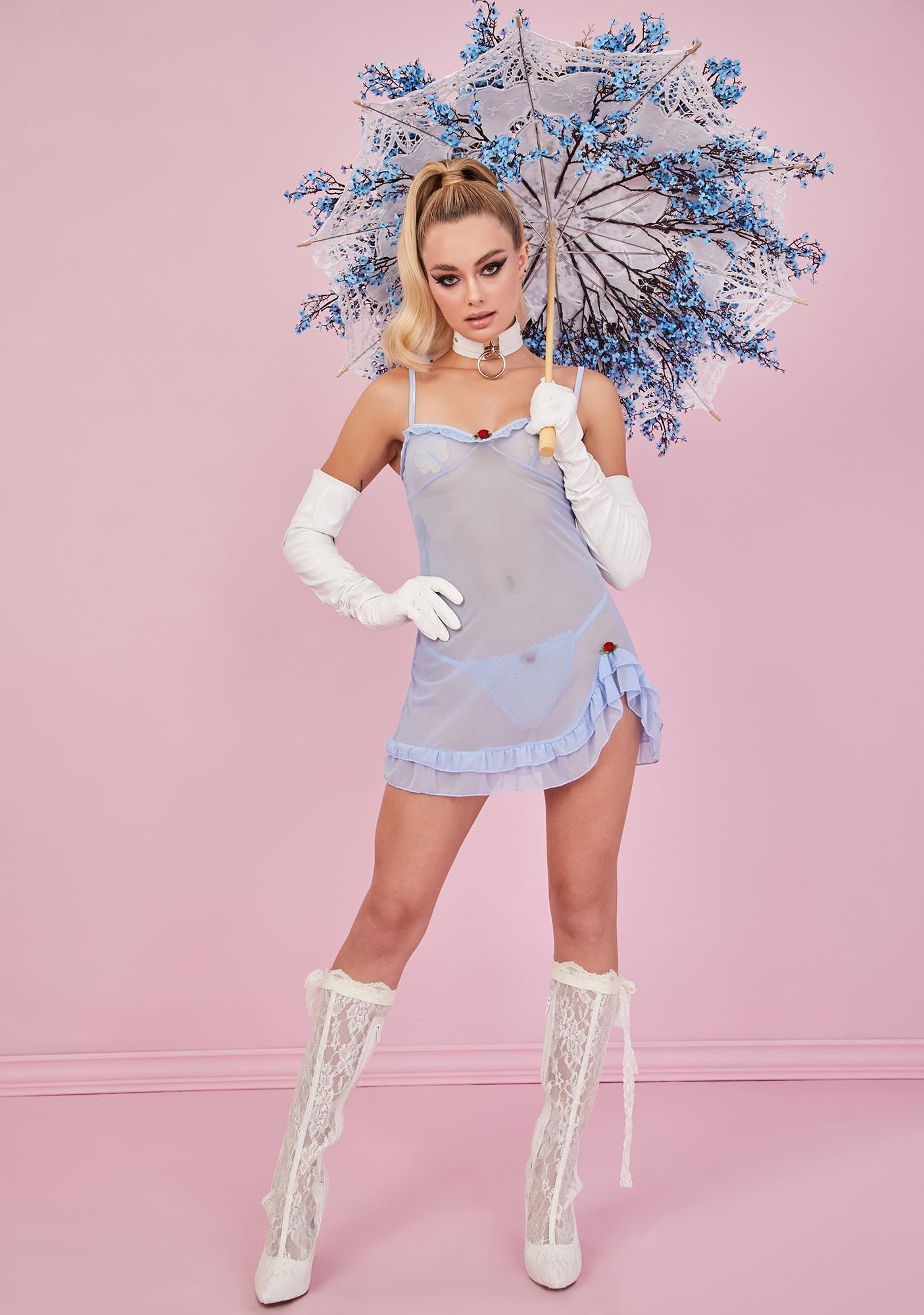 Sugar Thrillz Sky Feelin' Lovesick Slip Dress