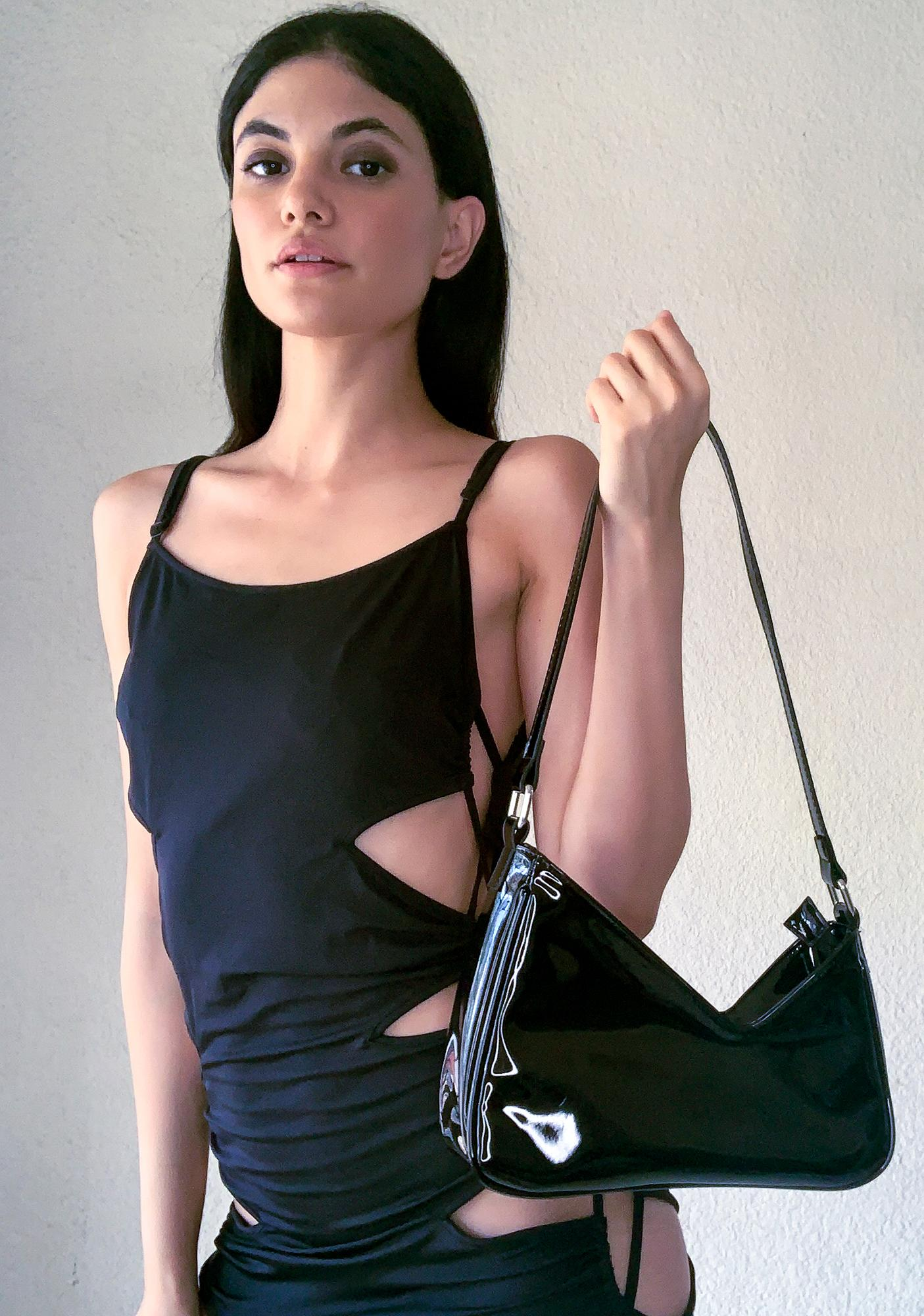 Poster Grl Cashing Checks Baguette Bag