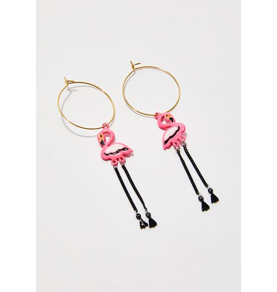 Born To Fly Dangly Earrings