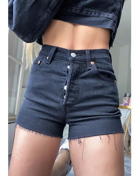Late Shift Ribcage Denim Shorts
