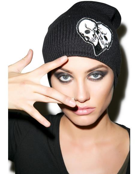 Dede Skull Heart Patch Beanie