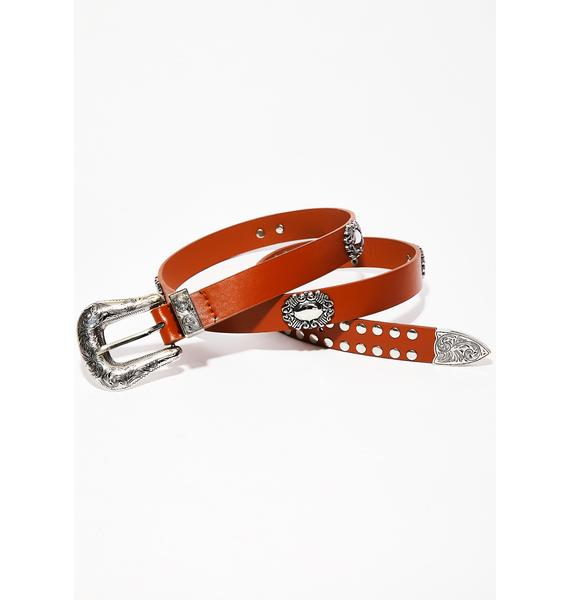 Cacao Wildin' Out Embellished Belt