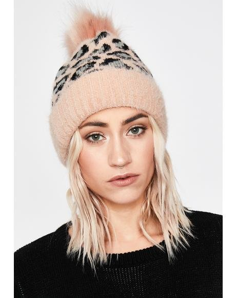 BB Cozy Kitty Leopard Beanie