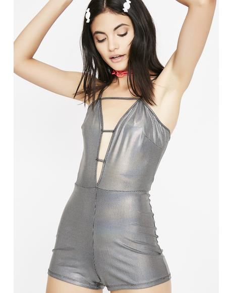 Chrome Party Neva Stops Metallic Romper
