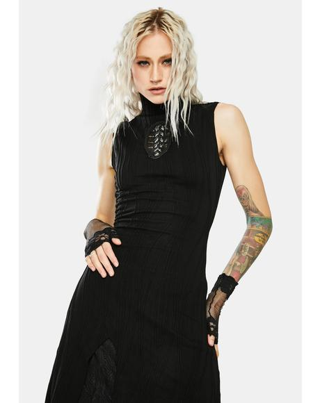 Darkness Magic Irregular Knit Dress