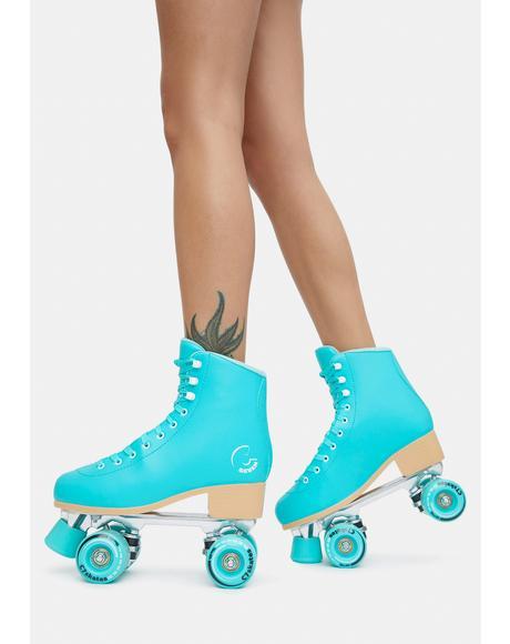 Premium Aquamarine Quad Skates