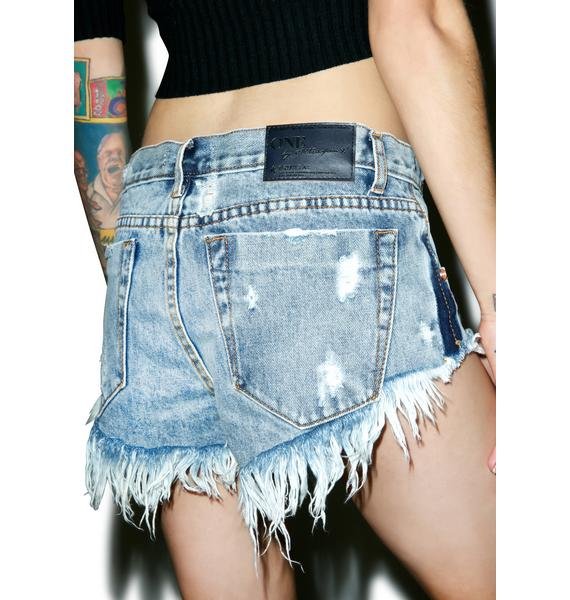 One Teaspoon Blue Malt Bonita Shorts