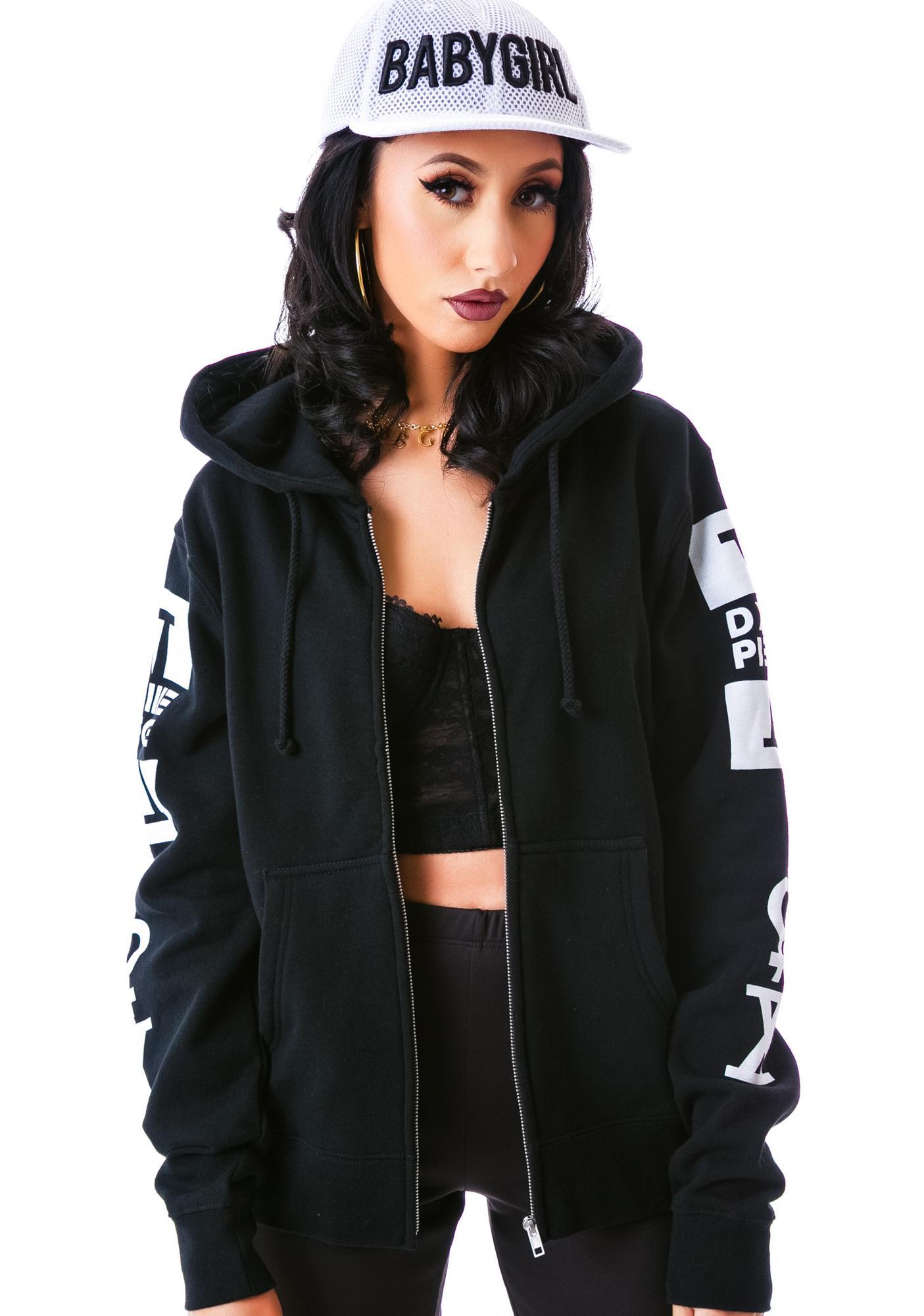 Dimepiece Femme Fatal Zipped Hoodie