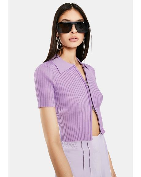 Purple Rina Crop Top