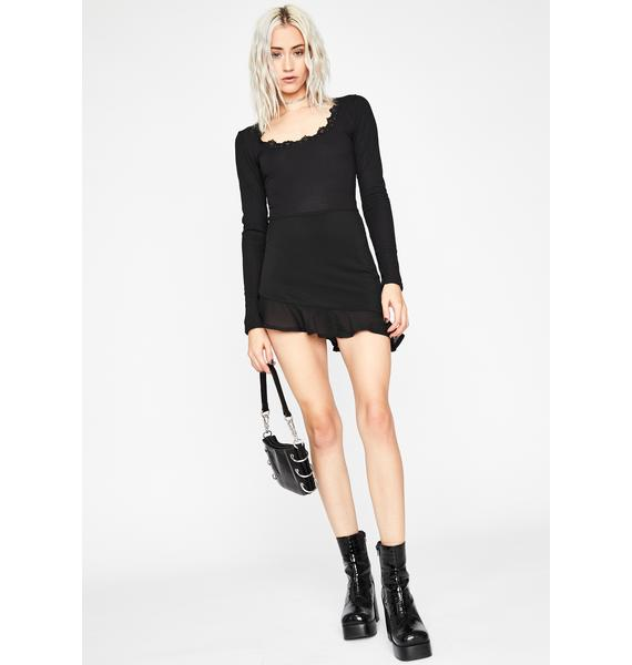 Deadly Serious Lace Up Bodysuit