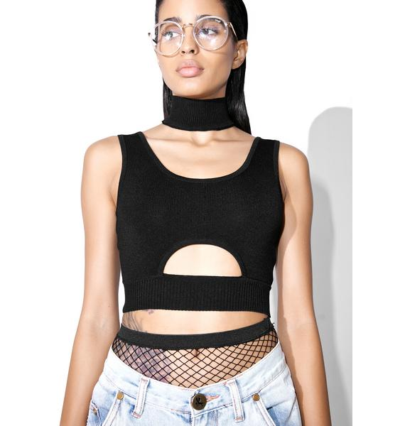 Stand Alone Mock Choker Top
