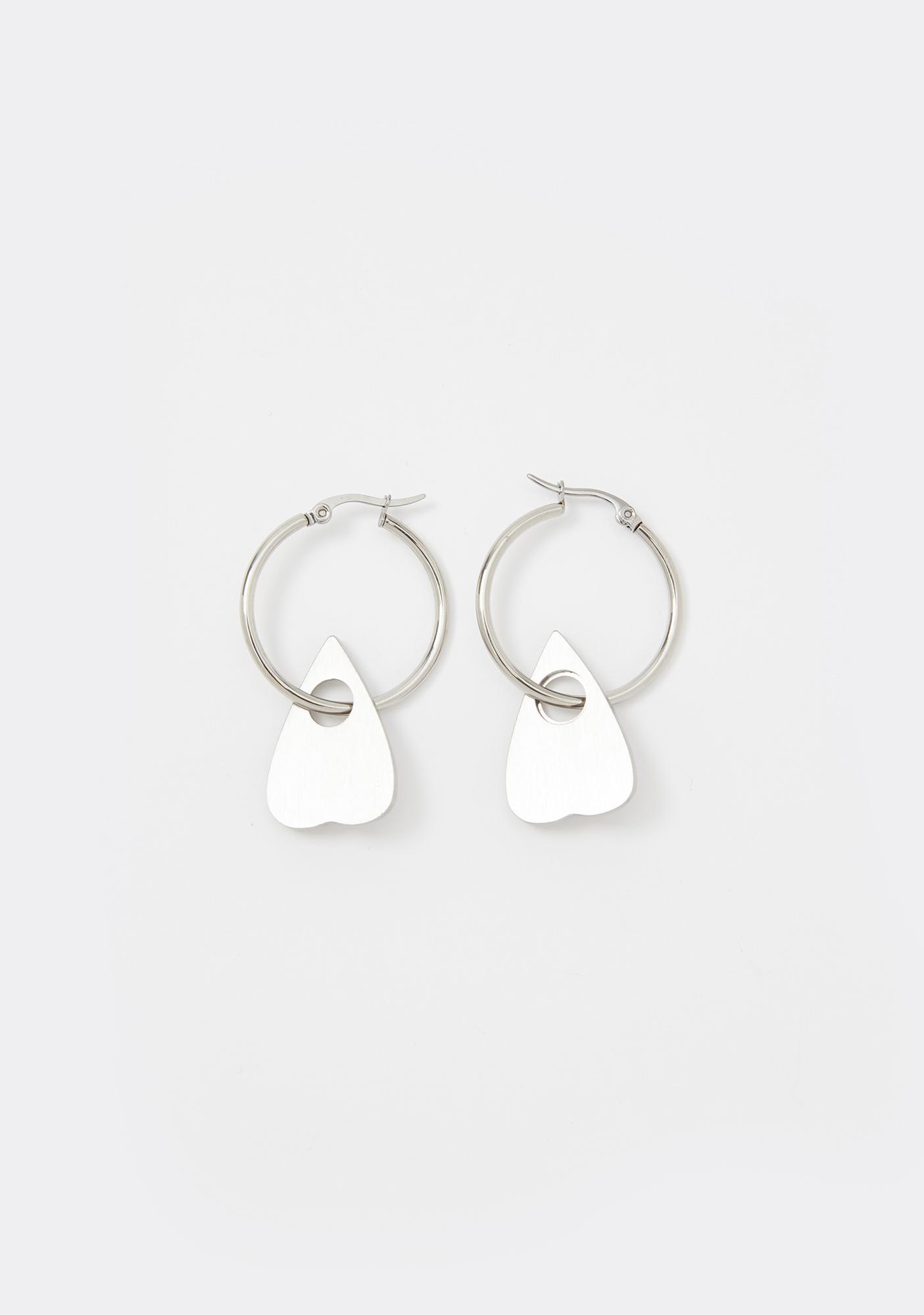 Mysticum Luna Planchette Hoop Earrings