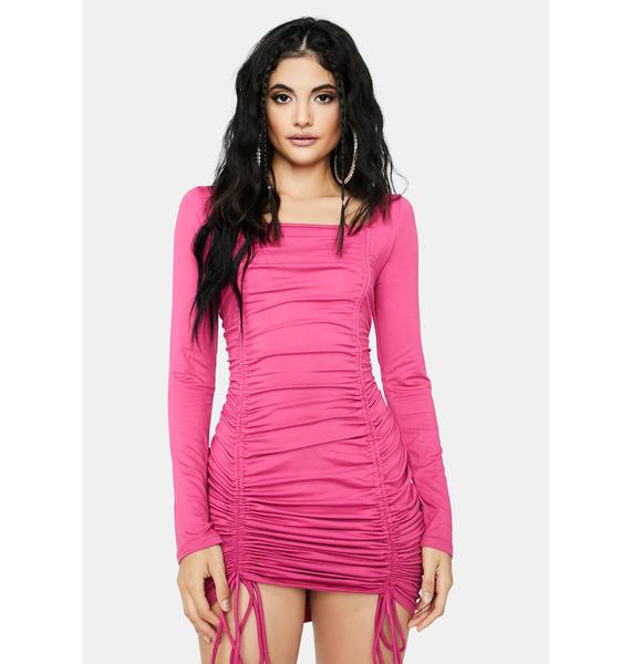 Pretty Babe In Charge Ruched Dress