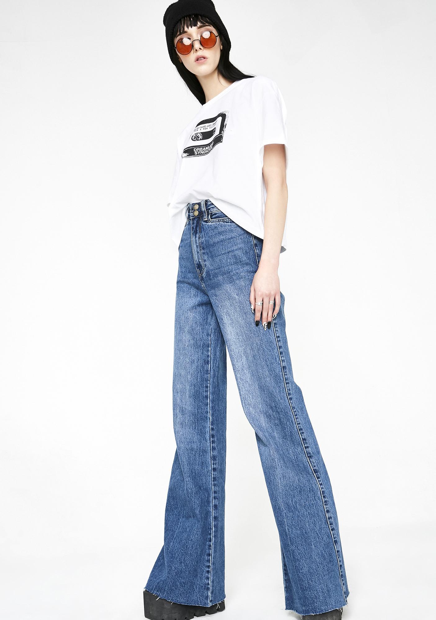 Neon Blonde Bella Super Sweeper Jeans
