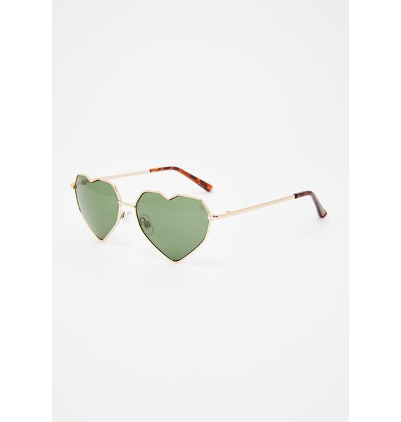 Love On The Brain Oversized Sunglasses
