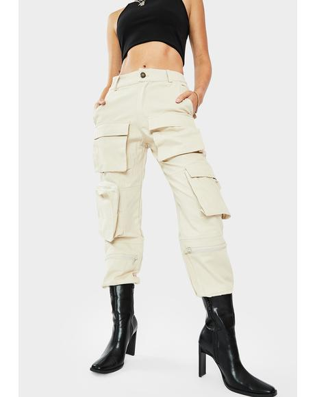 Tan Slayer Cargo Pocket Pants