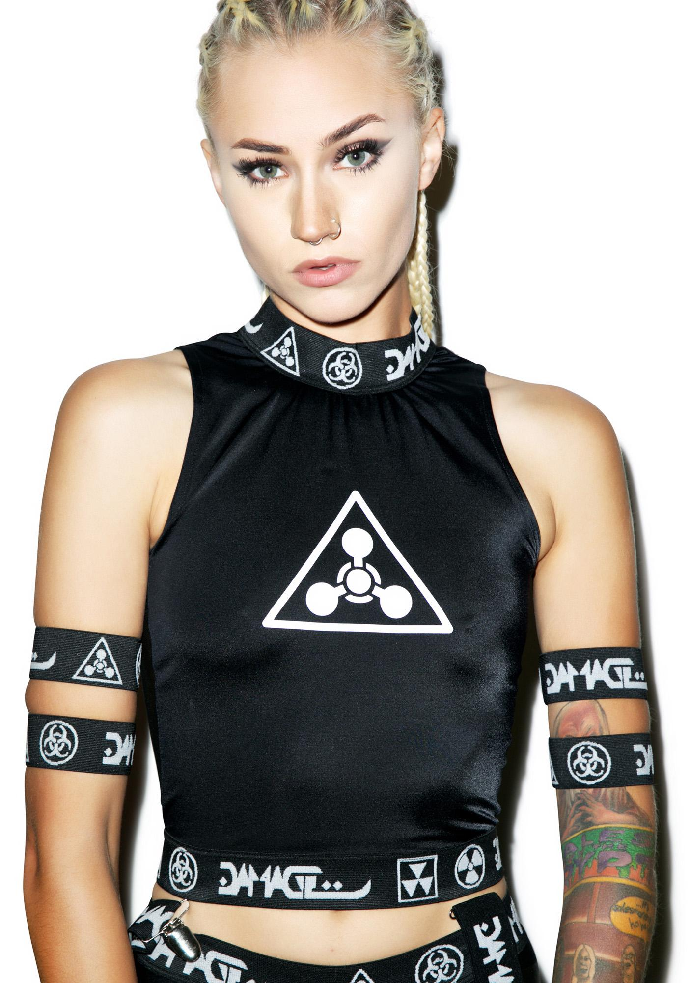 DAMAGE Chemical Warfare Crop Top