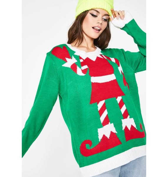 Elf With Your Head Sweater