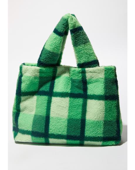 Funky N' Fresh Fuzzy Tote Bag