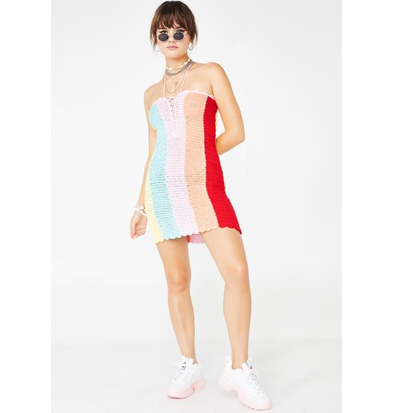 Prismatic Party Crochet Dress