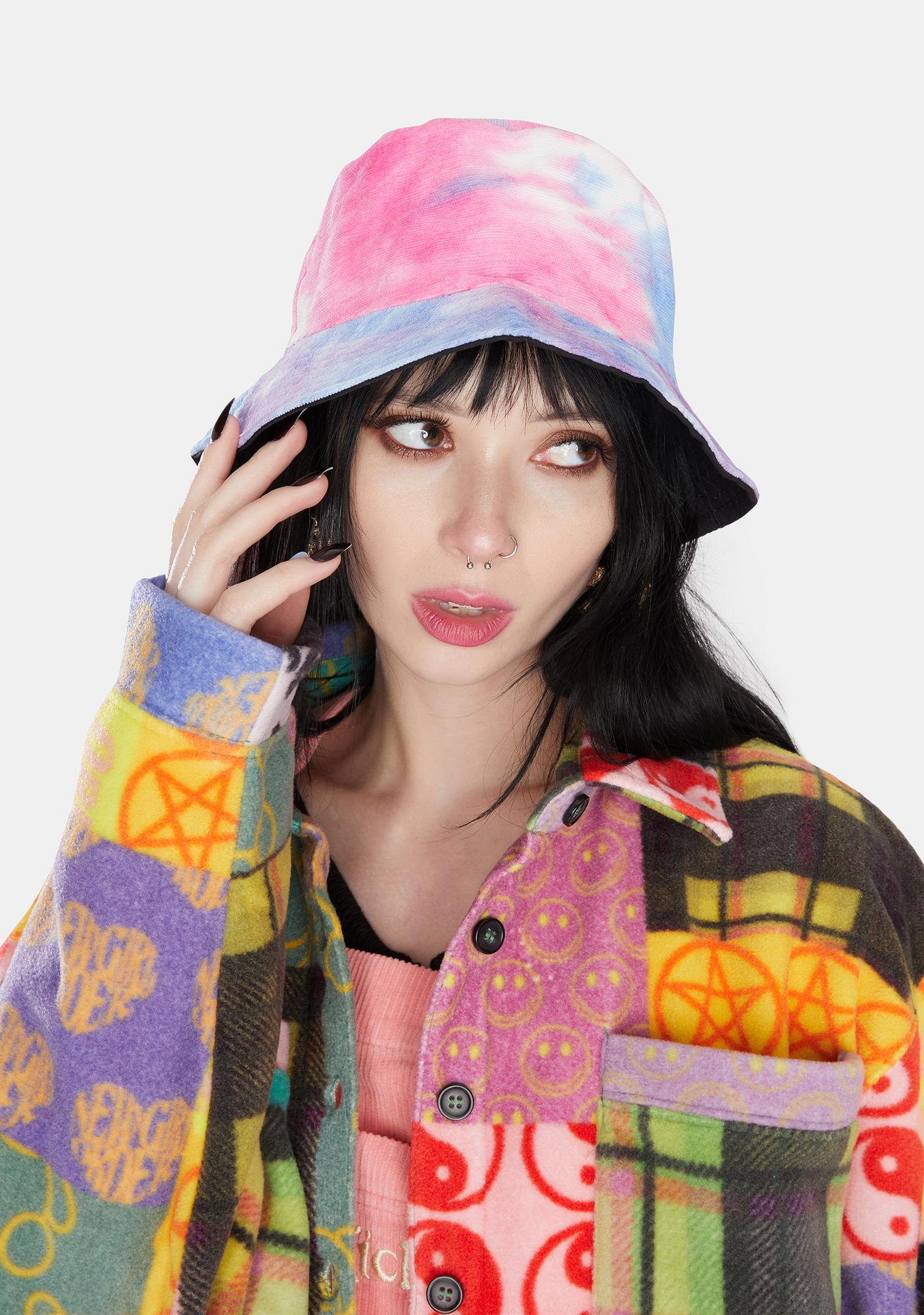 Candy Back In The Groove Reversible Tie Dye Bucket Hat Dolls Kill